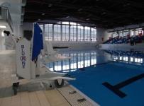 Gradski bazen Gojko Arneri - demonstracija rada bazenskog dizala
